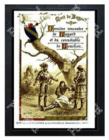 Historic Aiguebelle chocolate, The Life of Bayard 1880s Advertising Postcard 1