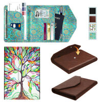 Passport Holder Wallet Trifold RFID Blocking Travel Organizer Leather Case Cover