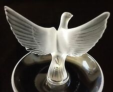 LALIQUE  PIN TRAY JEWELRY DISH BOWL THALIE OPEN WINGED DOVE SIGNED Perfection!