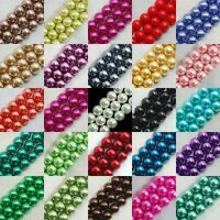 4/6/8mm Glass Pearl Round Spacer Loose Beads Charms Jewelry Jewelry Making C10S