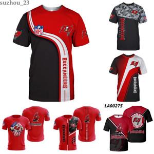 Tampa Bay Buccaneers Football Short Sleeve Fan's T-Shirt Summer Casual Tee Tops