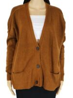 Olivaceous Womens Sweater Brown Size Small S Button Front Cardigan $68 341