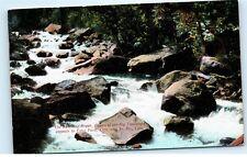 *Babbling Brook Canon Big Thompson Estes Park Colorado Vintage Postcard C87