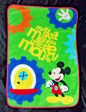 "Mickey Mouse Club Disney Meeska Mooska Plush Fleece Toddler Kid Blanket 30x43"""