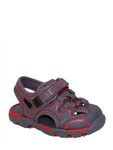 Wonder Nation Infants Boys Fisherman Beach Sport Sandal Shoes Size 2 Gray Red