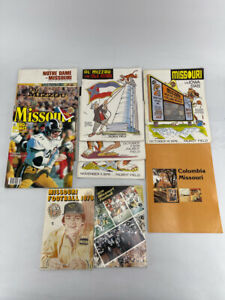 Vintage LOT - Missouri Tigers Mizzou College Football Magazine Programs 1970s