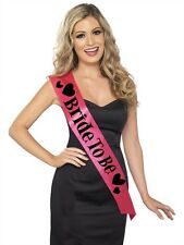 Bride To Be Sash New Adult Womens Bachelorette Party Accessories by Fever Pink