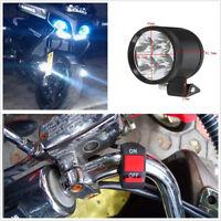 2 Pcs 40W U22 Motorcycle LED White Spot Driving Lights Fog Headlight Lamp+Switch