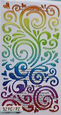 Jolee's Boutique Le Grande Rainbow Swirls Scrapbook Craft Sticker Embellishment