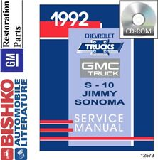 Car truck service repair manuals for gmc for sale ebay 1992 chevrolet s 10 models gmc sonomajimmy shop service repair manual cd fandeluxe Gallery