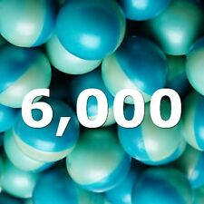 Paintballs 6000 Ct 0.68 size Grade Blue Balls Wholesale Bulk Lot Cheap sale