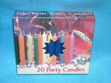 "Angel Chime Party Candles, 1/2"" Diameter x 4"" Tall, 20 in New Box, Dark Blue"