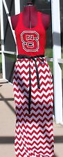 North Carolina State Wolf Pack Racer back Tank Maxi Dress Upcycled T-Shirts S