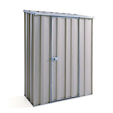 YardSaver S42 1.4m x 0.7m Slope Roof Zinc Single Door Garden Shed
