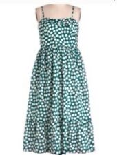 888abbe850a Dear Creatures Anthropologie Green Acorn Dress Mod Cloth Medium Sundress