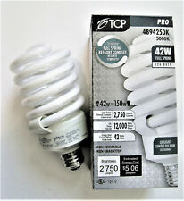 42W 5000K Compact Fluorescent Full Spiral Light Bulb TCP 4894250K CFL 150W Equal