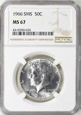 1966 SMS Silver Kennedy Half Dollar NGC MS-67