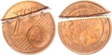 1 Cent Fehlprägung 180 Grad Stempeldrehung2005A BRD durch zerschneiden entwertet
