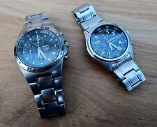 TWO Seiko chronograph watches: TITANIUM and Stainless. SNDB31 and SND419.