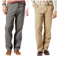 $39 Dockers Mens Big & Tall Classic Fit Flat Front Broken-In Washed Khaki Pants