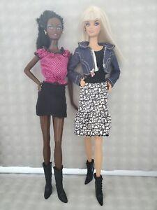 Barbie Clothes Fashion Lot Skirts, 2 Tops, Fashion Fever & My Scene Denim Jacket