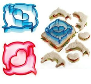 Dolphin Sandwich Cutter Mold Cookie Cake Biscuit Kids Lunch Box Bread Toast Food