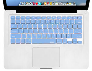 XSKN Hebrew Silicone Keyboard Skin Cover for old MacBook Air Pro 13 15, Blue US