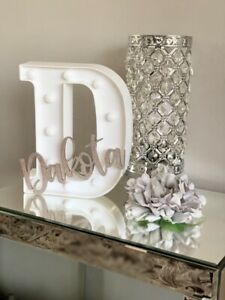 Personalised LED Freestanding Letters with Name Boy Girl Nursery Bedroom