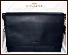 Coach Calf Leather Charles Briefcase Laptop Messenger Bag NWT MIDNIGHT NAVY NEW