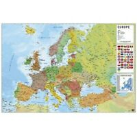 EUROPE - POLITICAL MAP POSTER 24x36 - IN ENGLISH 3632