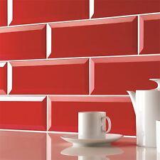 Wall Tiles - Metro brick effect red ceramic tile - SAMPLE