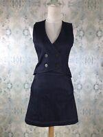 Derek Lam 10 Crosby Blue Denim Jean A Line Sleeveless Dress 2