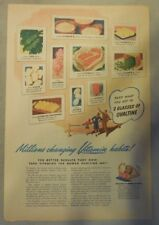 "Ovaltine Drink Ad: ""Vitamins and Minerals!""  from 1930's-1940's 11 x 15 inches"