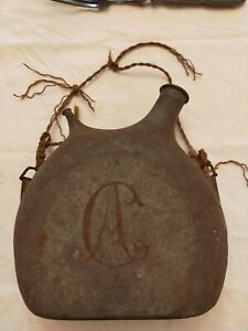 gourde bidon poilu tranchée WW1 14 18 monogrammé