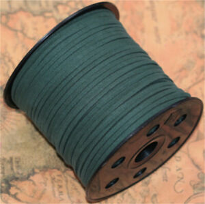 Wholesale 10yd 3mm Suede Leather String Jewelry Making Thread Cords Jasper
