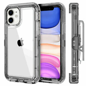 Clear Case Cover for iPhone 12 11 Pro XS MAX XR 6 6s 7 8 Plus SE 2020 Belt Clip