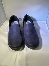 CLARKS CLOUDSTEPPERS Ladies SILLIAN PAZ Slip-On SUEDE  Navy Sz. 10 M