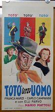locandina film TOTO' TERZO UOMO Totò Franca Marzi Elli Parvo1963
