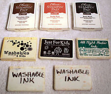 3 Stampin' Up! Classic Ink Pads & 5 Various Washable Ink Pads