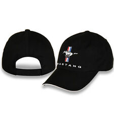 Ford Mustang Tri-Bar Logo Black UNSTRUCTURED Cotton Hat