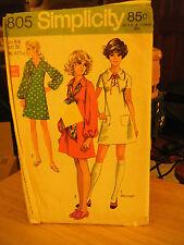 Simplicity 8805 Teen Size Dress in 2 Lengths Pattern - Size 5/6 Bust 28