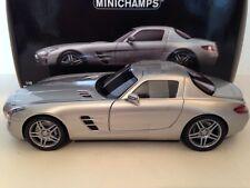 Minichamps 039026 Mercedes Benz SLS AMG 2010 Silver 1/18 Scale New