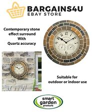 More details for smart garden stonegate mosaic wall clock & thermometer 14