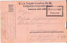 Feldpost K.u.k. Sappeurbataillon Nr. 14