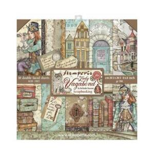 """PRE-ORDER - Stamperia Lady Vagabond - Double-Sided Paper Pad 8""""X8"""" 10/Pkg - SBBS"""