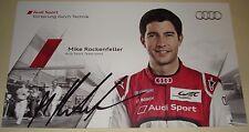 Le MANS 2012 3rd luogo-FIA CME AUDI R18 Ultra #4 Mike Rockenfeller firmato Carta