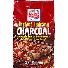 Fuel Express Instant Light Charcoal 2 X 1kg Bag