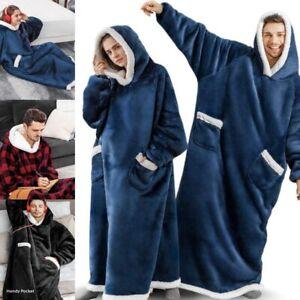 Hoodie Blanket Lazy TV Oversized Soft Sweatshirt Warm Coat Hooded Fleece Unisex
