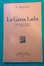 G. ROSSINI - LA GAZZA LADRA - 1931  D8