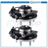 Pair 2 FRONT Right Or Left Wheel Hub And Bearing Assembly For Lincoln Ford w/ABS